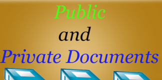 Article: Law of Evidence: Public and Private Documents