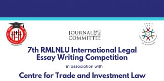 Call for Entries: RMLNLU-CTIL Conference on International Trade Law, Submit by November 17, 2019